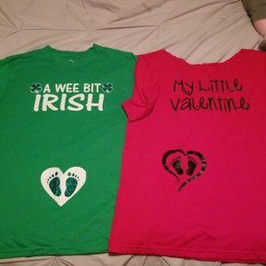 Other - Pregnancy Valentines & St. Patrick's day bundle